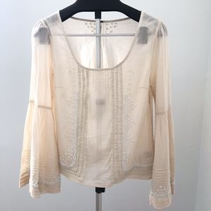 Free people Beaded peasant top